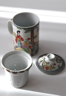 Teebereiter / Teebecher / Infusionsbecher 'China Life' im Siam Tee Shop, 3-teilig