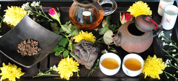 Jin Xuan Black Pearls black tea from Doi Mae Salong acelebrated in Chinese Gong Fu Cha Tea Ceremony